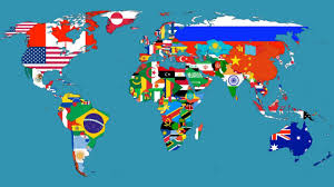 animaniacs nations of the world with flags