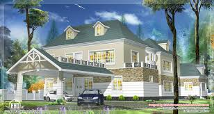 western style house design in kerala kerala home design and