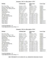 2014 calendar holidays list print calendar