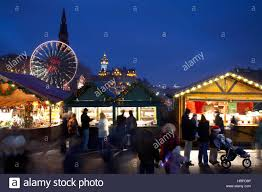 winter festivities and market stalls with