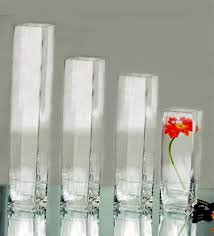 Wholesale Vases For Wedding Centerpieces Clear Block Glass Vases Wedding Centerpieces Sold By Bulk 4
