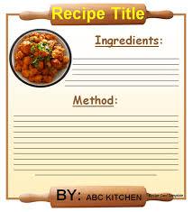 20 free recipe card page u0026 book templates free u0026 premium templates