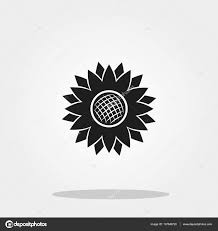 thanksgiving symbol sunflower cute icon in trendy flat style isolated on color