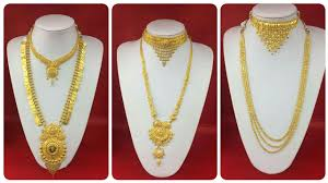 gold long necklace set images Long gold necklace with short necklace set long rani haar with jpg