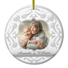 25th wedding anniversary christmas ornament 25th wedding anniversary ornaments zazzle ca