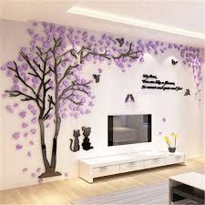 home decor 3d stickers creative couple tree 3d sticker acrylic stereo wall stickers home