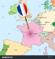 Dart Map Target France Dart Hitting France On Stock Vector 81414931