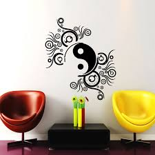 wall decals stickers home decor home furniture diy wall decals ying yang sign decal mandala vinyl stickers yoga studio decor cc122