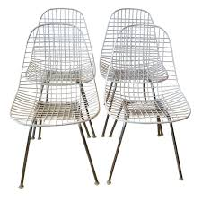 Eames Dining Chair Eames Wire Dining Chairs By Herman Miller At 1stdibs