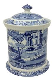 Italian Canisters Kitchen by Spode Blue Italian Canister Chairish