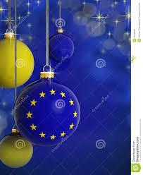 christmas balls with european union flag royalty free stock photos