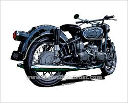 bmw vintage motorcycle motorbikeartist com original motorcycle drawings by ernie young