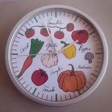 horloge murale pour cuisine horloge murale motif legumes frais pour inspirations avec horloge