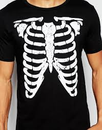 asos halloween t shirt with distressed skeleton print in black for
