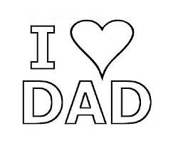 love dad coloring pages cards father hearts