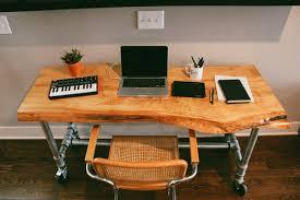 live edge computer desk gorgeous maple live edge desk on casters jon dalman in