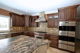 cabinet white stained wood kitchen cabinet