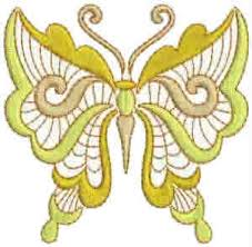 yellow butterfly machine embroidery designs
