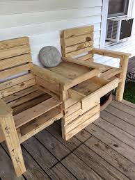 Outdoor Table And Bench Seats Wood Pallet Outdoor Bench Double Chair