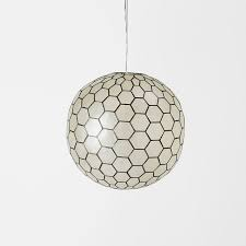 Capiz Light Pendant Capiz Flower Pendant West Elm For Contemporary Household Light