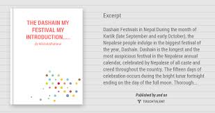 the dashain my festival my introduction touchtalent for