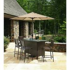 Patio Furniture Bar Set 5 Patio Bar Set Table Chairs Outdoor Bartender Deck