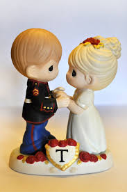 marine wedding cake toppers custom painted cake topper precious moments