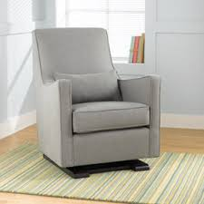 nursery gliders heather grey upholstered monte luca glider and