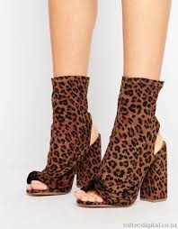 womens boots missguided missguided peep toe ruffle boot boots leopard outlet factory