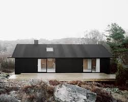 moderne holzhã user architektur schlichte schwarzweiss architektur aus schweden sweet home