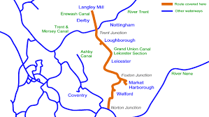 grand map pdf grand union canal leicester cruising map in acrobat pdf format