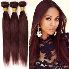 sewed in hair extensions sassy silky 10 28 burgundy peruvian sew in hair