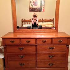 Solid Maple Bedroom Set Find More Young Republic Solid Maple Dresser U0026 Mirror 54wx19