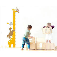 giraffe height chart bear birds playing together easy to peel