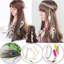 hippie hair accessories peacock hippie feather boho headband festival hairband carnival