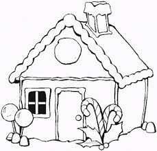 get this free preschool gingerbread house coloring pages to print