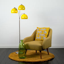 Yellow Floor Lamp Shade Dantzig 3 Arm Floor Lamp With Domed Shades Iconic Lights