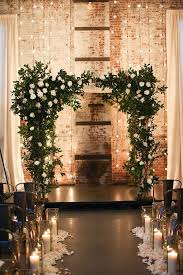 wedding backdrop arch 30 winter wedding arches and altars to get inspired weddingomania