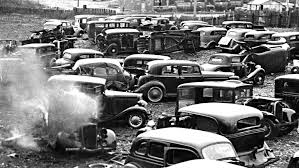 auto junkyard texas philly junk yard 1930s cars scraped and crushed into bales the