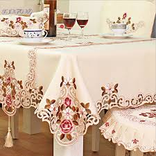 tablecloth for oval dining table 140x220cm chinese embroidery hotel dining table cloth rectangle