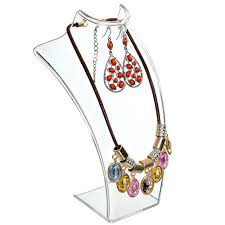necklace earring display images Transparent 3d acrylic necklace earring jewelry display jpg