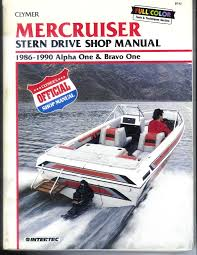 mercruiser stern drive shop manual 1986 1990 alpha one and bravo