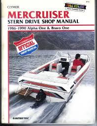 mercruiser stern drive shop manual 1986 1990 alpha one and bravo