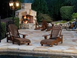 exterior design rustic style outdoor wood burning fireplace