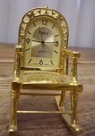 Mini Rocking Chair Timex Quartz Mini Miniature Clock Watch Gold Colored Rocking Chair