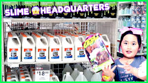 shopping for slime and glue at michaels slime headquarters