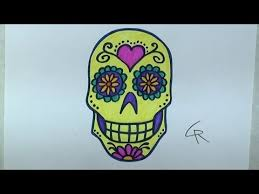 learn how to draw and color a sugar skull part 2 icanhazdraw