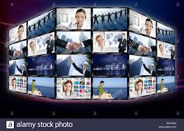 futuristic tv video news digital screen wall with business futuristic tv video news digital screen wall with business concepts