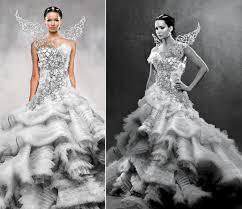 katniss everdeen wedding dress costume the best nerdy wedding ideas pomofo