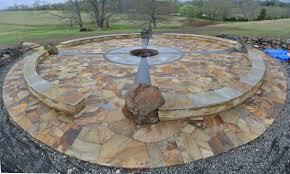in ground outdoor fire pit designs